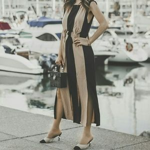 66d61c5f Zara Dresses | Two Toned Dress With Knots | Poshmark